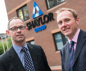 (l-r) Gary Turley, Finance Director at Shaylor Group with Clive Broadhurst of Finance Birmingham