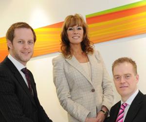 Steve Harris, Alison Bradley and James Caldicott